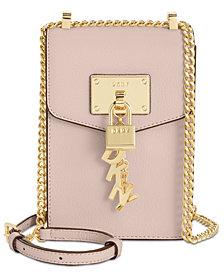 DKNY Elissa Pebbled Charm Chain Strap Crossbody, Created for Macy's