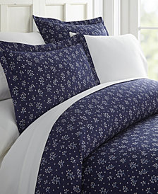 Home Collection Premium Ultra Soft Midnight Blossoms Pattern 3 Piece Duvet Cover Set