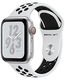 Apple Watch Nike+ Series 4 GPS + Cellular, 40mm Silver Aluminum Case with Pure Platinum Black Nike Sport Band