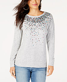 I.N.C. Sequined Knit Top, Created for Macy's