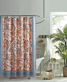 Caicos Lined Cotton Shower Curtain