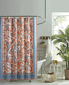 Jessica Simpson Caicos Lined Cotton Shower Curtain