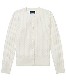 Big Girls Cable-Knit Cotton Cardigan