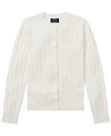 Polo Ralph Lauren Big Girls Cable Cardigan