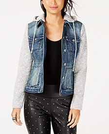 I.N.C. Denim Slub Knit Sleeve Jacket, Created for Macy's