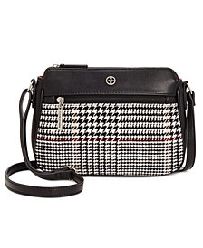 Giani Bernini Woven Plaid Crossbody, Created for Macy's