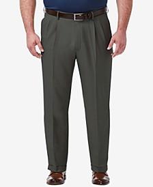 Men's Big & Tall Premium Comfort Stretch Classic-Fit Solid Pleated Dress Pants