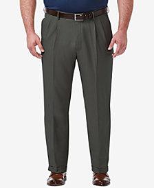 Haggar Men's Big & Tall Classic-Fit Premium Comfort  Stretch Solid Dress Pants