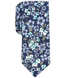 Bar III Men's Calbira Slim Floral Tie, Created for Macy's