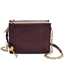 Fossil Campbell Leather Chain Crossbody