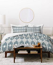 Deny Designs Heather Dutton West End Midnight Linen Twin Duvet Set
