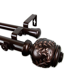 """Colette Double Curtain Rod 1"""" OD 66-120 inch"""