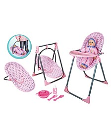 Lissi Doll - 4 In 1 Highchair Set