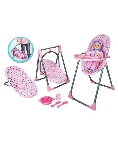 Lissi Dolls Lissi Doll - 4 In 1 Highchair Set