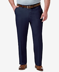 Men's Big & Tall Premium Comfort Stretch Classic-Fit Solid Flat Front Dress Pants