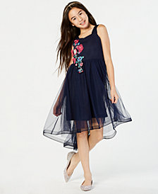 Sequin Hearts Big Girls Embroidered High-Low Hem Party Dress
