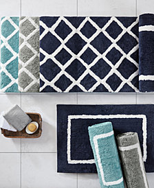 Madison Park Bittman Reversible High Pile Tufted Microfiber Bath Rug Collection