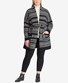 Lauren Ralph Lauren Plus Size Fair Isle Cardigan