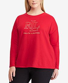 Lauren Ralph Lauren French Terry Logo Graphic Sweater