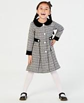 9070615d6b Blueberi Boulevard Toddler Girls 2-Pc. Tweed Coat   Dress Set