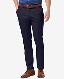 Haggar Men's Premium No Iron Khaki Slim-Fit Flat Front Pants