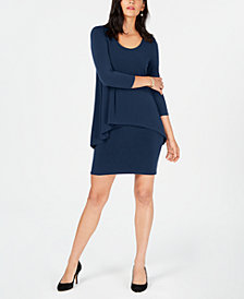 Alfani Petite Popover-Waist Dress, Created for Macy's