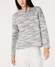 Eileen Fisher Merino Wool Crew-Neck Sweater