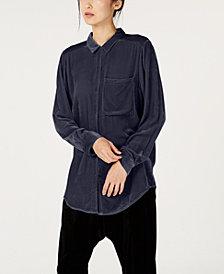 Eileen Fisher Velvet Button-Up Shirt