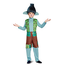Trolls Branch Deluxe Costume With Wig