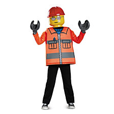 Lego Iconic Construction Worker Classic Big Boys Costume