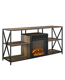 60 inch X Frame Open Shelf Fireplace