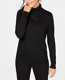 JM Collection Lurex® Turtleneck Sweater, Created for Macy's