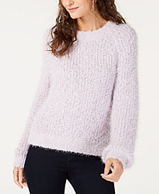 I.N.C. Eyelash-Texture Sweater, Created for Macy's
