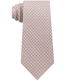 Michael Kors Men's Small Satin Grid Silk Tie