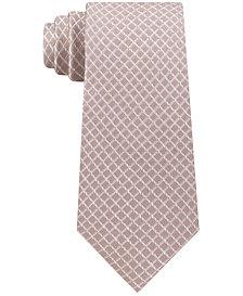 Michael Kors Men's Small Satin Grid Silk Tie
