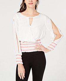 I.N.C. Smocked Split-Sleeve Top, Created for Macy's