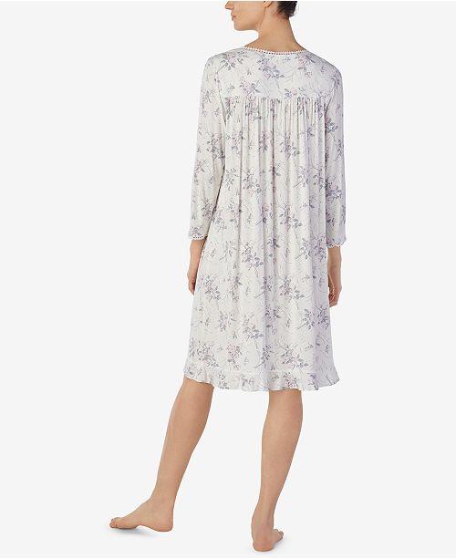 f1e5fed545 Eileen West Petite Printed Waltz Nightgown - Bras