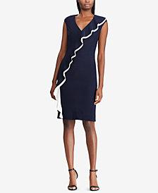 Lauren Ralph Lauren Ruffle-Trim Jersey Dress