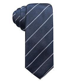 Alfani Men's Slim Stripe Silk Tie, Created for Macy's