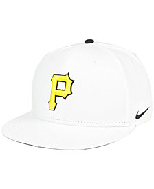 Nike Pittsburgh Pirates White Ripstop Snapback Cap
