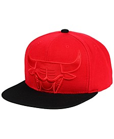 Chicago Bulls Cropped Satin Snapback Cap