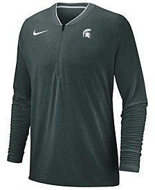 Men's Michigan State Spartans Coaches Quarter-Zip Pullover 2018