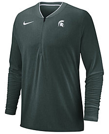 Nike Men's Michigan State Spartans Coaches Quarter-Zip Pullover 2018