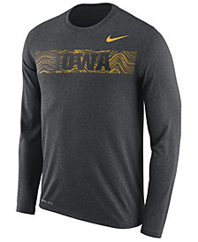 Nike Men's Iowa Hawkeyes Legend Sideline Long Sleeve T-Shirt 2018