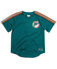 Mitchell & Ness Men's Miami Dolphins Winning Team Mesh Button Front Jersey