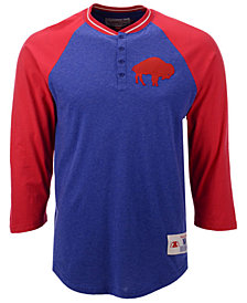 Mitchell & Ness Men's Buffalo Bills Four Button Henley T-Shirt