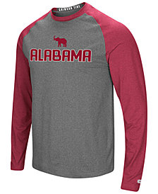 Colosseum Men's Alabama Crimson Tide Social Skills Long Sleeve Raglan Top