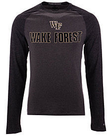 Colosseum Men's Wake Forest Demon Deacons Social Skills Long Sleeve Raglan Top