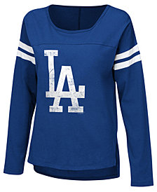 Touch by Alyssa Milano Women's Los Angeles Dodgers Free Agent Long Sleeve T-Shirt