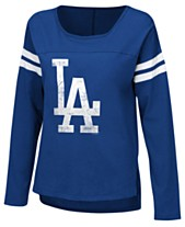 4942bf0112 Touch by Alyssa Milano Women s Los Angeles Dodgers Free Agent Long Sleeve  T-Shirt